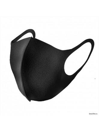 Многоразовая фэшн маска черная pitta mask 3 шт.