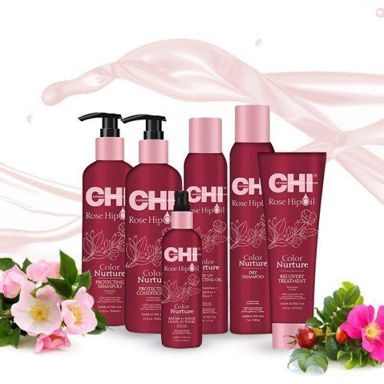 Линия для окрашенных волос с маслом шиповника  CHI ROSE HIP OIL COLOR NURTURE