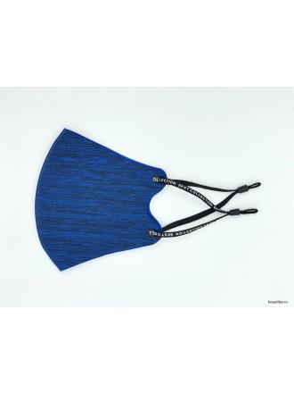 Маска тканевая защитная с фиксатором Синяя