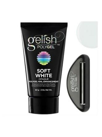 Gelish PolyGel Soft White, 60g - натуральный белый полигель