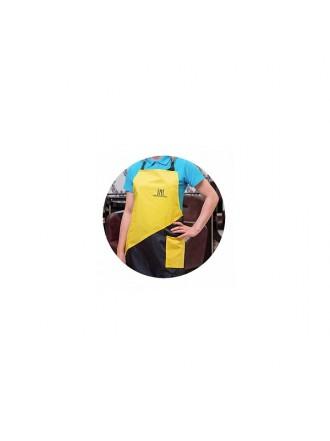 Фартук TNL Professional - желтый с карманом (FR-02)