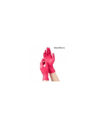 mediOk, Перчатки нитриловые - Цвет красный (р-р S, 50 пар в уп.)