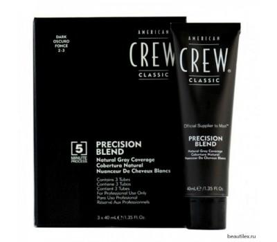 AMERICAN CREW Камуфляж для седых волос АС Темный натур. 2/3, 3*40 мл.