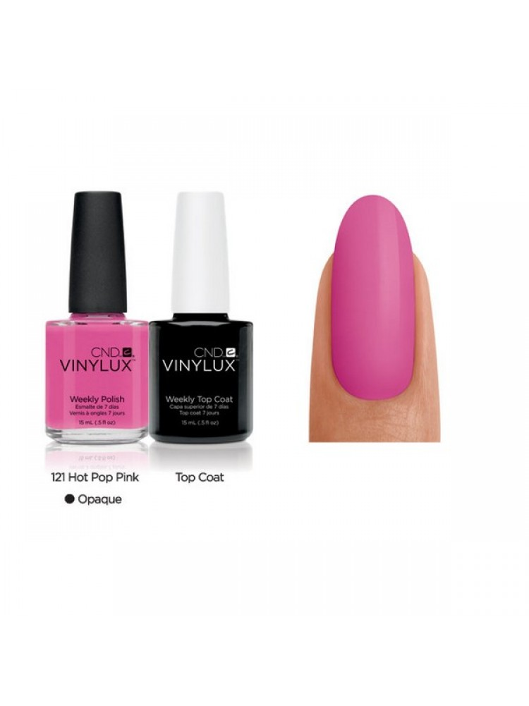 CND Hot Pop Pink № 121 Ярко- розовый, плотный.