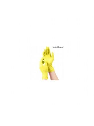 mediOk, Нитриловые неопудренные перчатки - Цвет желтый (р-р L, 50 пар в уп.)