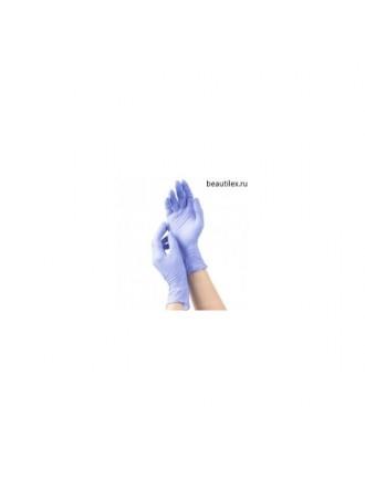 mediOk, Перчатки нитриловые - Цвет голубой (сиреневый, р-р L, 50 пар в уп.)
