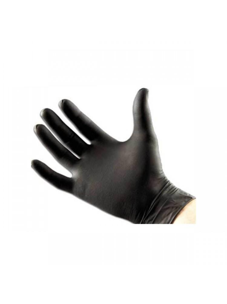 Перчатки Виниловые черные 50 пар L/M/S