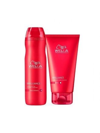 WELLA Brilliance НАБОР для Окрашенных Нормальных и Тонких волос (Шампунь 250мл- Бальзам 200мл)