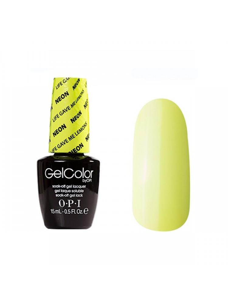 OPI Gelcolor Life Gave Me Lemons NEON