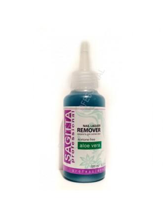 Sagitta: Жидкость для снятия лака с экстрактом алоэ 100 мл.