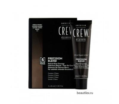 AMERICAN CREW  Камуфляж для седых волос АС Средний натур. 4/5, 3*40 мл.
