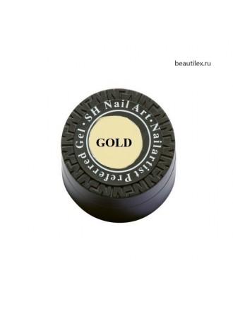 Гель краска Паутинка SH, золото