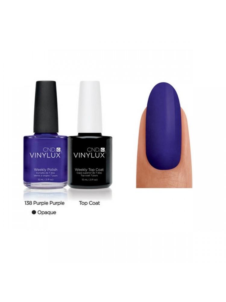 CND Purple Purple № 138 Пурпурный, плотный.