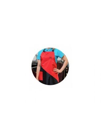 Фартук TNL Professional - красный с карманом (FR-03)