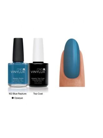 CND Blue Rapture № 162 Темно -голубой, эмалевый, плотный.