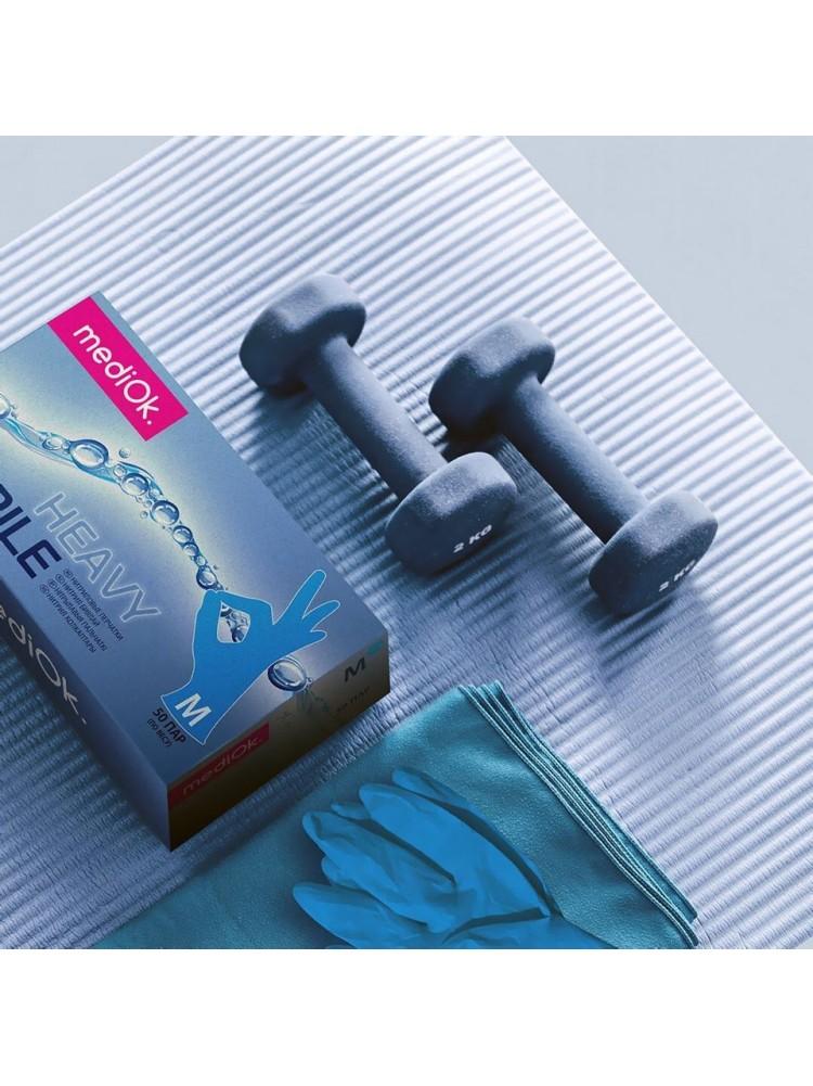 Перчатки mediOk HEAVY «М» - голубые