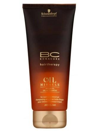 BC Bonacure Oil Miracle Argan Oil Шампунь для жестких и толстых волос, 200 мл